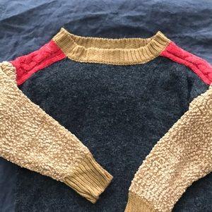 Sweaters - Stylish unique color block sweater M